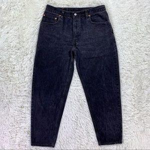 VTG Levi's 560 Loose Tapered Dad Jeans Black 34x32